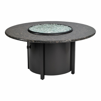 "Grenite Round Fire Pit 42"" Dia With Black Mahagony Top"