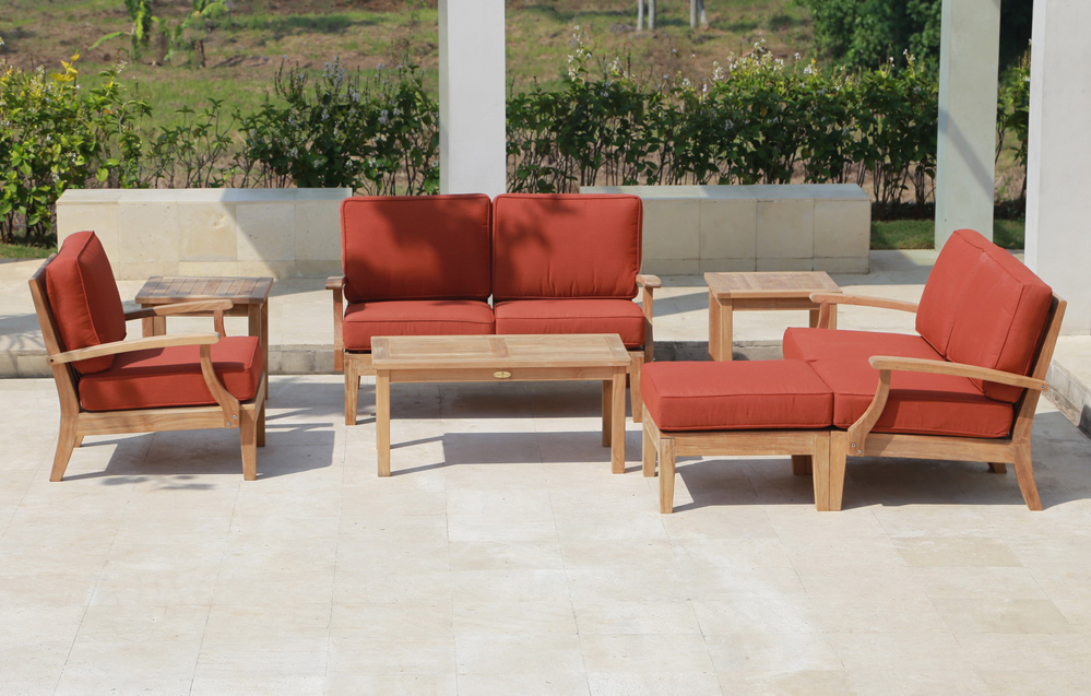 Beau Classic Deep Seating Teak Sofa Set