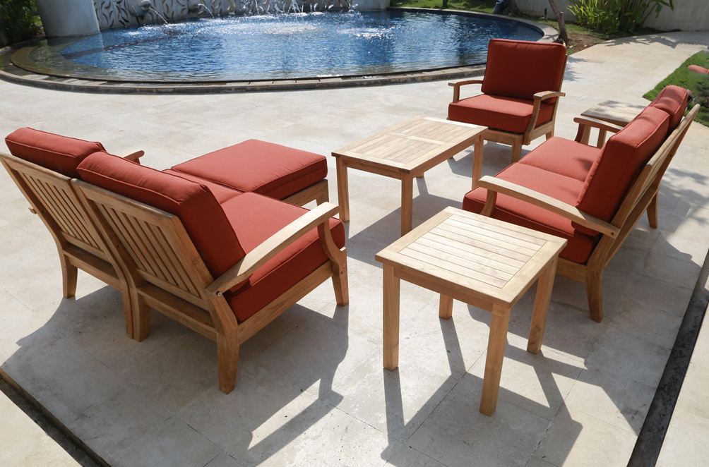 Exceptionnel Classic Deep Seating Teak Sofa Set