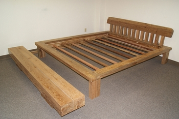 Classic Teak Bed with Bench