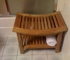 Curved Teak Shower Bench