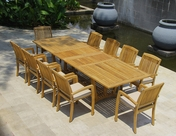 Daytona Teak Table Set 11Pc