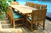 Deluxe Teak Table Set 13PC