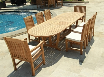 Deluxe Teak Table Set 9Pcs