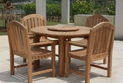 Glaser Teak Table Set 5PC