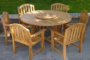 Glaser Teak Table Set 7PC