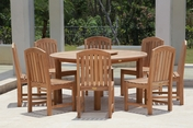 Glaser Teak Table Set 9PC