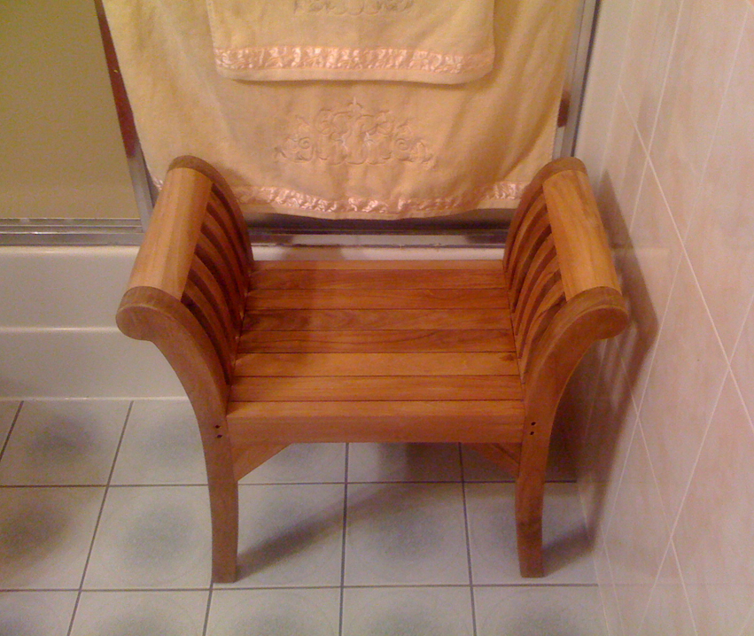 Teak Shower Bench Teak Shower Bench Teak Shower Bench