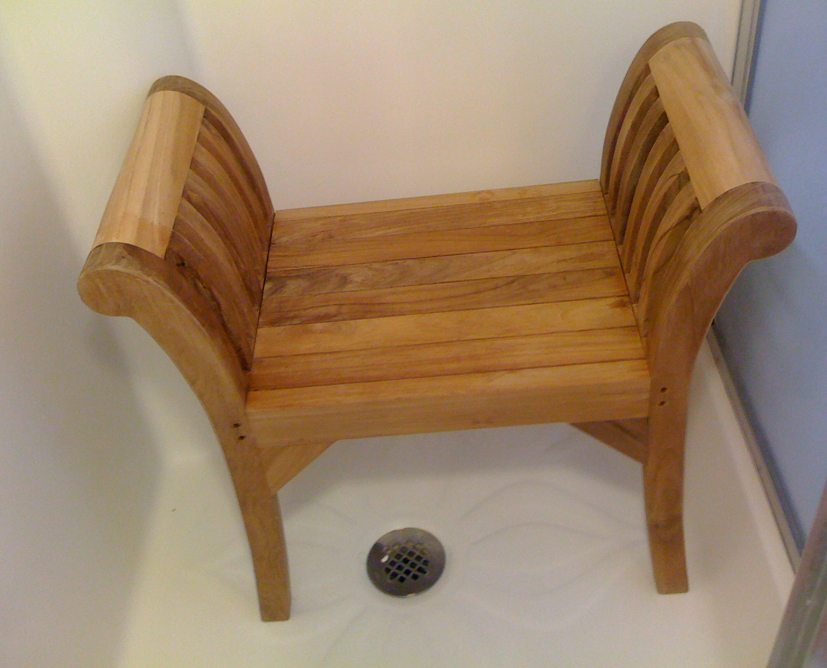 king teak shower bench - Teak Shower Bench