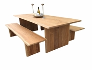 Live Edge 8F Table Set