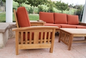 Mission Style Teak Sofa Set