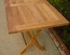 Rectangle Easy Folding Teak Table 4ft