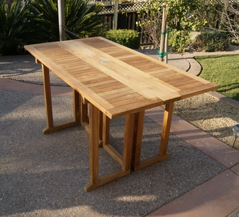 Rectangular Drop Leaf Table