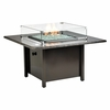 "42"" Square firepit -Granit Black Mohagny Top"