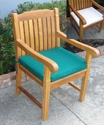 Teak Arm Chair Outdoor Cushion