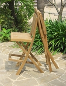 Teak Folding Bar Chair