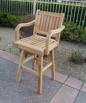 Teak Swivel Bar chair
