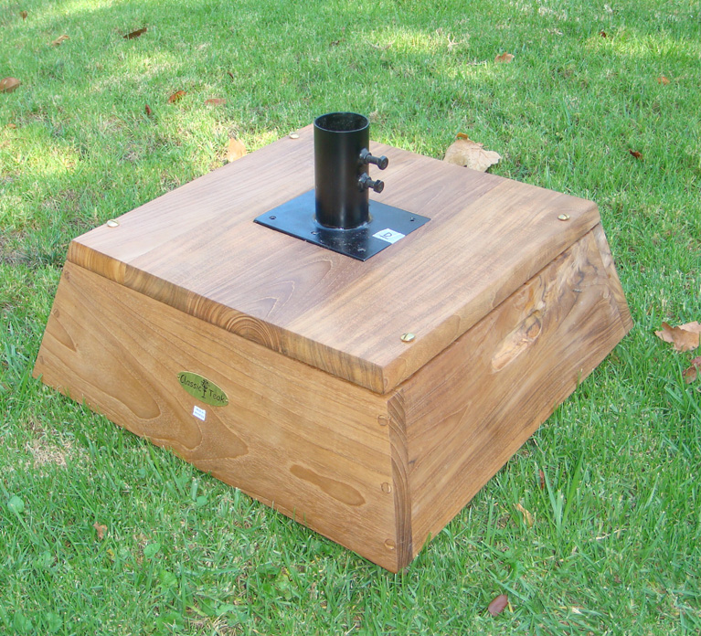 teak umbrella base - Patio Umbrella Base