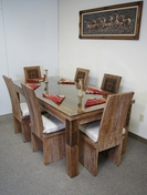 Unique Carved Dining Table-Set