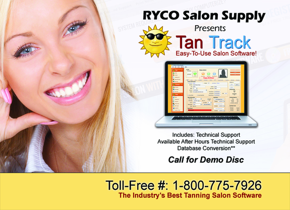 Tan Track Software & Computer Point Of Sale Workstation