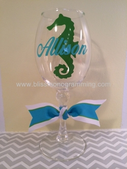 Acrylic Wine Glass with Graphic