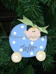 Baby Carriage Boy<br>Christmas Ornament