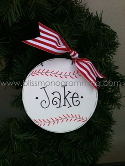 Baseball Christmas<br>Ornament