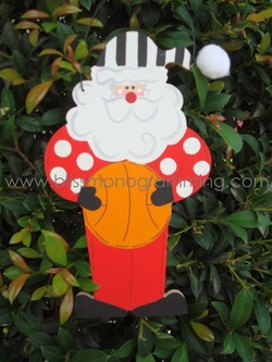 Basketball Santa<br>Christmas Ornament