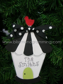 Birdhouse<br>Christmas Ornament