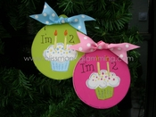 Birthday Cupcake<br>Christmas Ornament