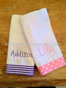 Burp Cloth with Grosgrain