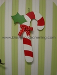 Candy Cane Door Plaque