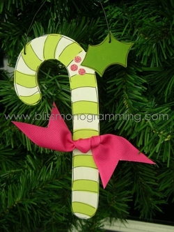 Candy Cane (Green)<br>Christmas Ornament<br>SOLD OUT