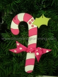 Candy Cane (Pink)<br>Christmas Ornament