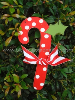 Candy Cane (Red)<br>Christmas Ornament