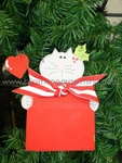Cat in Present<br>Christmas Ornament