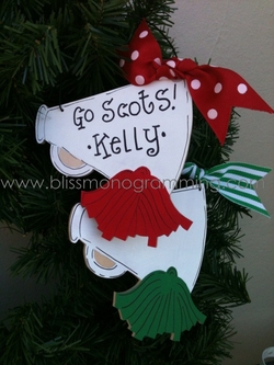 Cheerleading<br>Christmas Ornament