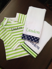 """Landon"" Gift Set<br>(Sleeper, Burpcloths)"