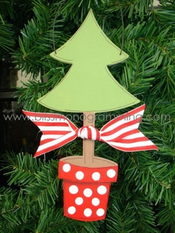 Christmas Tree in Red Pot<br>Christmas Ornament