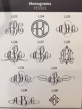 Delavan Monogram Note<br>Raised Ink