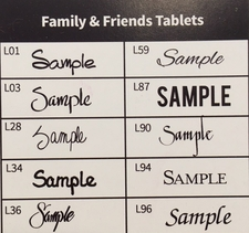 Family & Friends Tablets