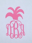 Fancy Pineapple Car Monogram