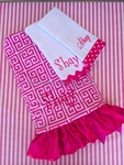 Greek Key Blanket and Burpcloths Set