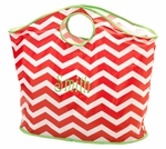 Large Chevron Christmas Tote