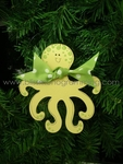 Octopus (Green)<br>Christmas Ornament