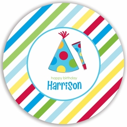 Party Hat Boy Plate