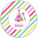 Party Hat Girl Plate