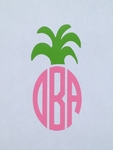 Pineapple Car Monogram