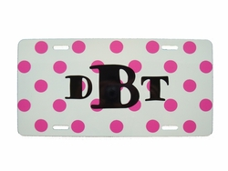 Pink Dot License Plate