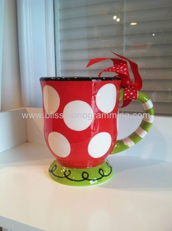 Polka Dot Christmas Mug